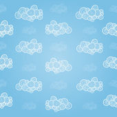 Seamless pattern with hand-drawn clouds — Stock Photo