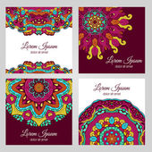 Colorful floral design elements — Stock Vector