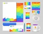 Bright corporate identity template — Stock Vector