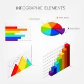 Bright isometric infographics elements — Stock Vector