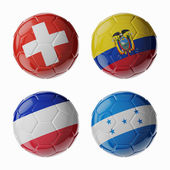 Football WorldCup 2014. Group E. soccer balls. — Stock Photo