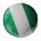 Soccer ball. Flag of Nigeria — Fotografia Stock