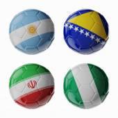 Football WorldCup 2014. Group F. soccer balls. — Stockfoto