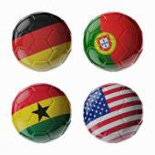 Football WorldCup 2014. Group G. soccer balls. — Stock Photo