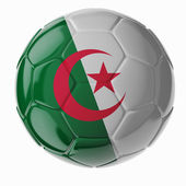 Soccer ball. Flag of Algeria — 图库照片