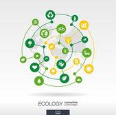 Ecology connection concept — Stockvektor