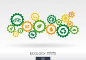 Ecology mechanism concept — Stock Vector
