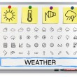 Weather hand drawing line icons. — Stock Vector #70311445