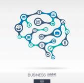 Hersenen concept voor business — Stockvector