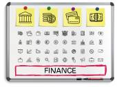 Finance hand drawing line icons. — Stock Vector