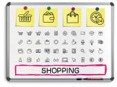Shopping line icons — Stock Vector