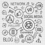 Social media hand draw icons — Stock Vector #71446011