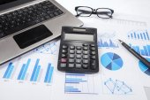 Business finance research 1 — Stock Photo