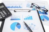 Business finance research — Stock Photo