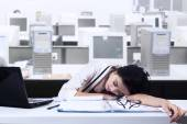 Businesswoman Sleeps In Office — Stock Photo