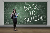 High school student back to school — Stock Photo