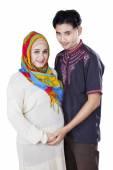 Islamic pregnant female and her husband — ストック写真