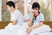 Annoyed couple after quarreling — Stockfoto