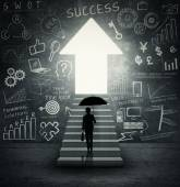 Business agent looking at bright door — Photo