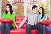 Man cheating his girlfriend — Stock Photo