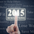 Finger with resolution button of 2015 — Stock Photo #54209375