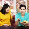 Annoyed woman yelling to her husband — Stock Photo #54731603