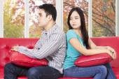 Couple having problem at home — Foto Stock
