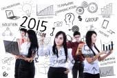 Imprenditori, trovare l'idea per risoluzioni — Foto Stock