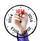 Hand drawing annual clock — Foto de Stock