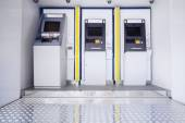 Three atm machines — Stock Photo