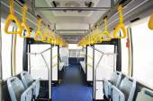 Interior of modern bus — Foto Stock