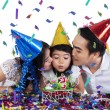 Togetherness of family in birthday party — Stock Photo #56488223