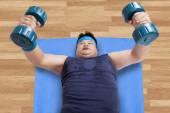 High angle view of man workout — Zdjęcie stockowe
