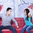 Furious couple hitting each other — Stock Photo #58168453