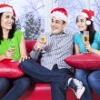 Group of teenagers celebrate christmas — Stock Photo #58168657