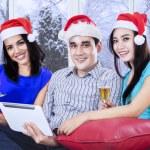 Hispanic teenagers celebrate christmas — Stock Photo #58169159