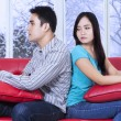 Woman looks cold at her boyfriend — ストック写真 #58170569