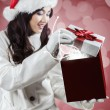 Girl opens her wish gift — Stock Photo #58675545