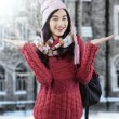 Attractive female student in warm clothes — Stock Photo #59245811
