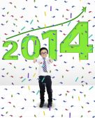 Little child celebrating a new year — Stock Photo