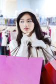 Pretty girl at the department store — Stock Photo