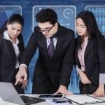 Multi ethnic teamwork in business meeting — Stock Photo #62021691