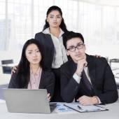 Confident multi ethnic business team in office — Stock Photo