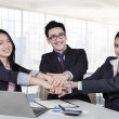 Multiracial business team showing unity — Stock Photo #62512819
