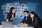 Group of multicultural entrepreneurs in a meeting — Stock Photo