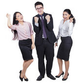 Successful multi ethnic business team — Stock Photo