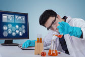 Scientist working with chemical in laboratory — Stock Photo