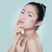 Beautiful girl after pampering her skin — Stock Photo