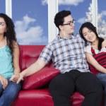 Man betraying his girlfriend — Stock Photo #65597167