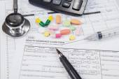 Medical insurance form for patient — Foto Stock